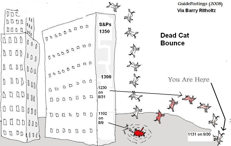 Dead-cat-bounce trading system