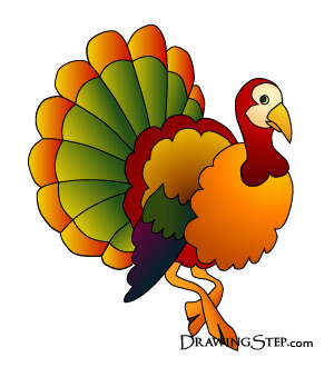 Nude turkey clip art