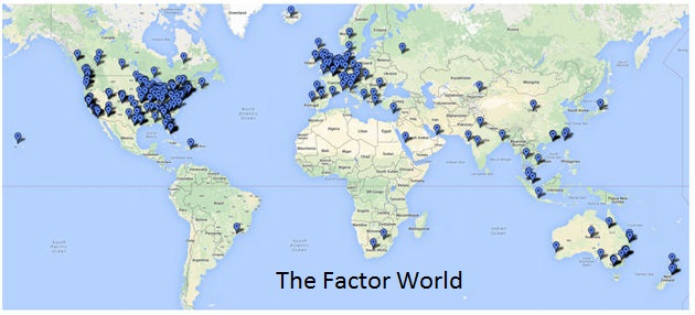 Factor world map